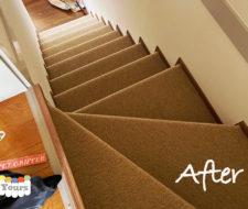 階段のカーペットの敷き詰め